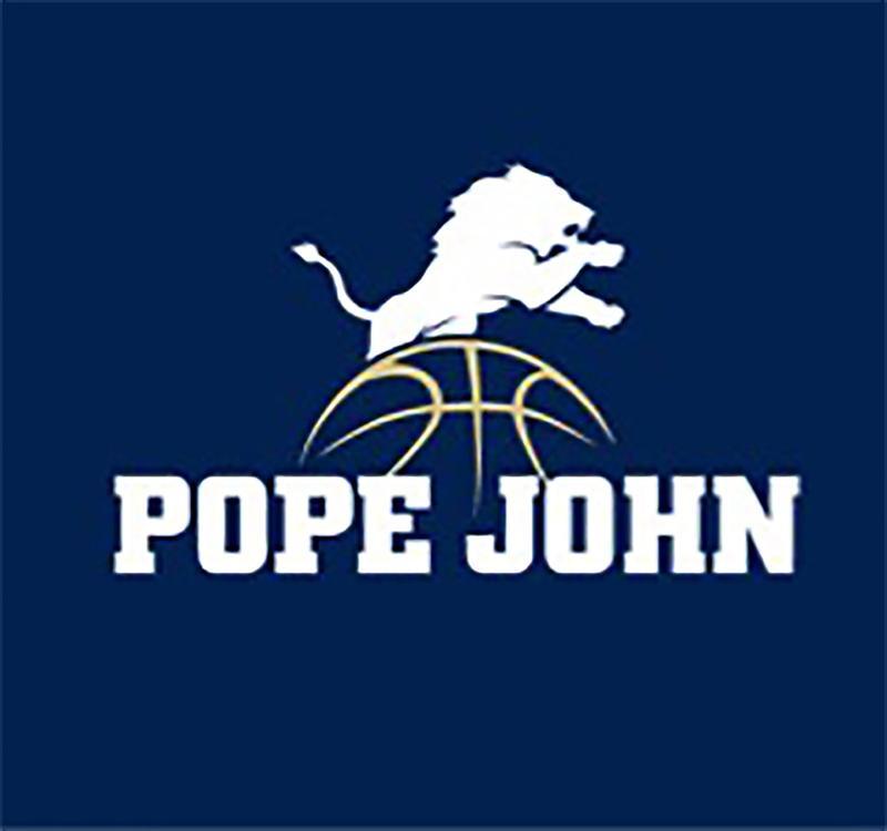 Pope John basketball logo