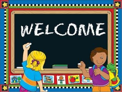 Picture of kids with a welcome sign