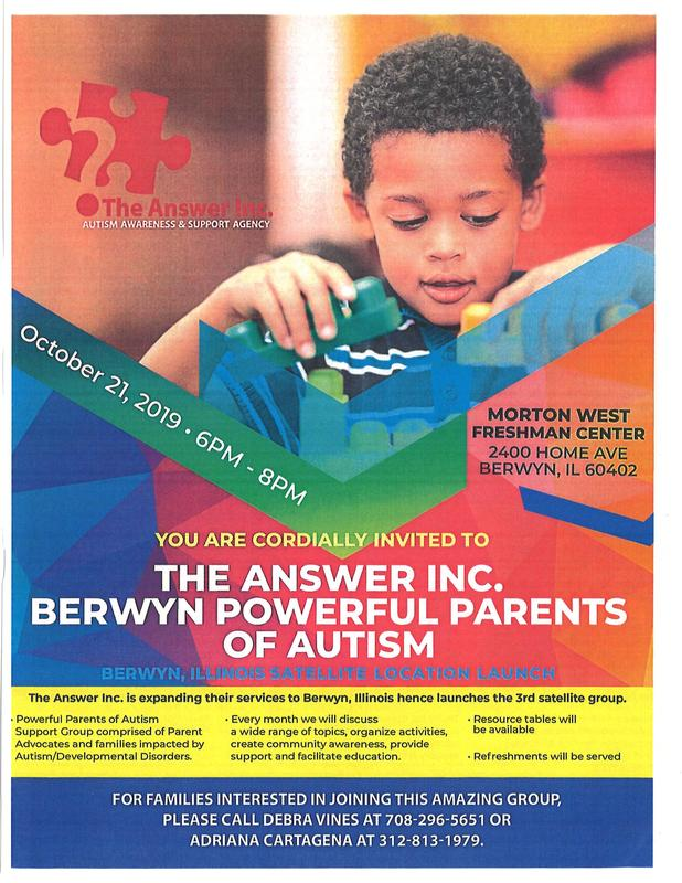 Berwyn Powerful Parents of Autism / Poderosos Padres Del Autismo Thumbnail Image