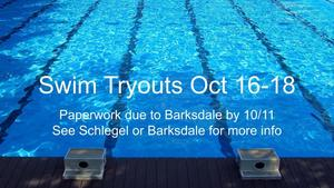 swim team tryout