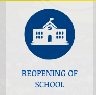 Photograph of Reopening Graphic from homepage of website.
