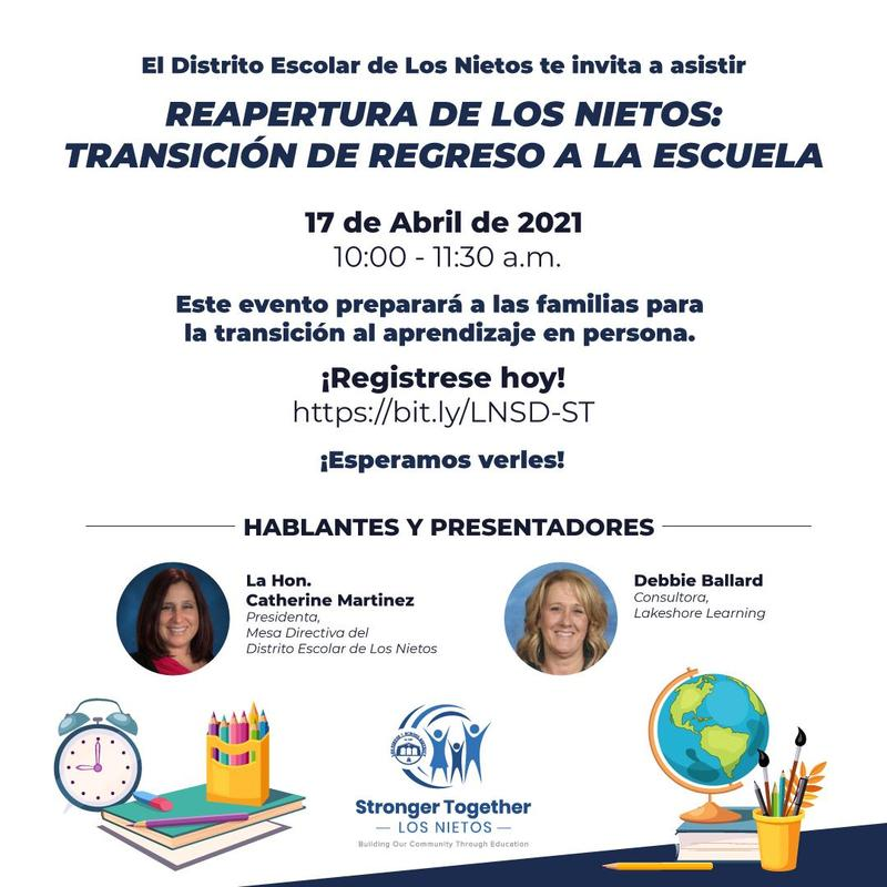Reopening Flyer in Spanish