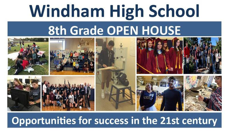 Grade 8 Students:  Come to Windham High School's Open House February 11 Thumbnail Image