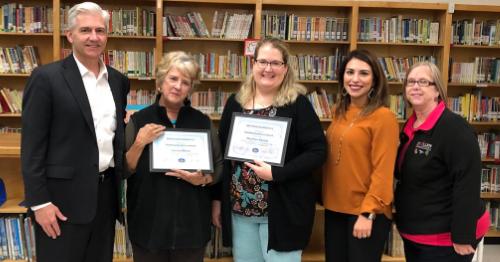 5th grade teachers receiving award