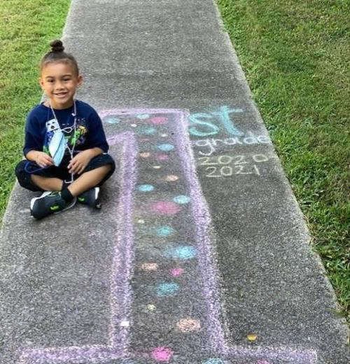 First grader on the first day of school!