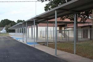 LJH covered Student Drop-Off Area, side view
