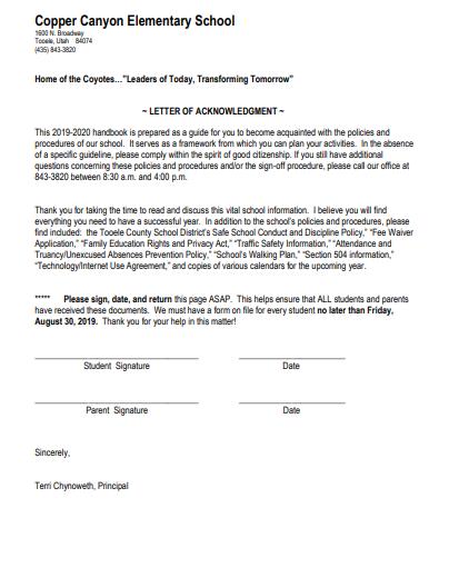 Handbook acknowledgment page