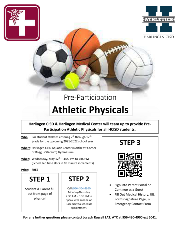Free Physicals on May 12! Featured Photo
