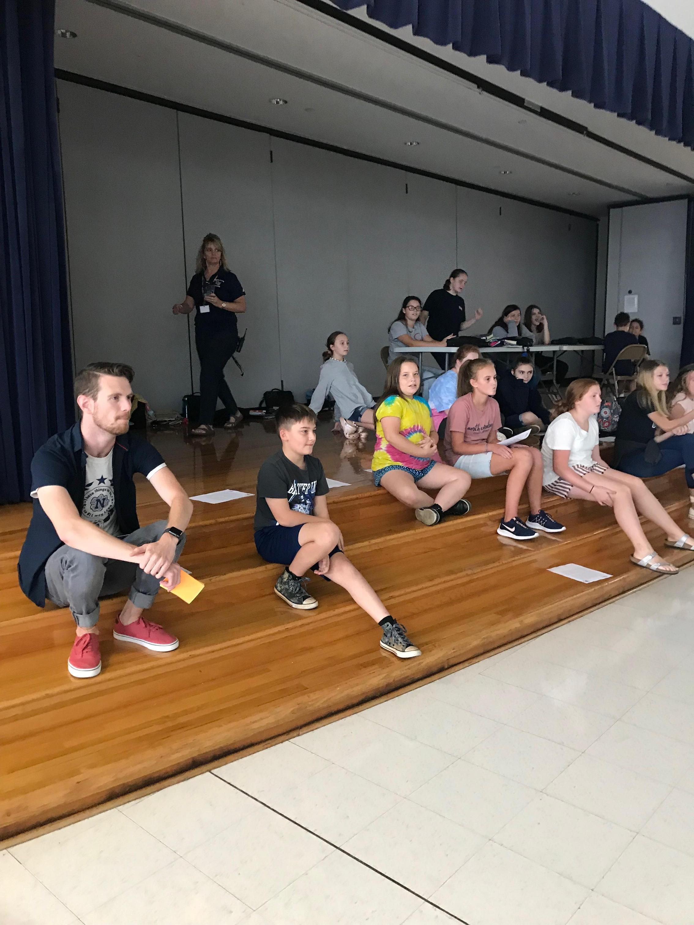 Students watching Jaguar Drama Club