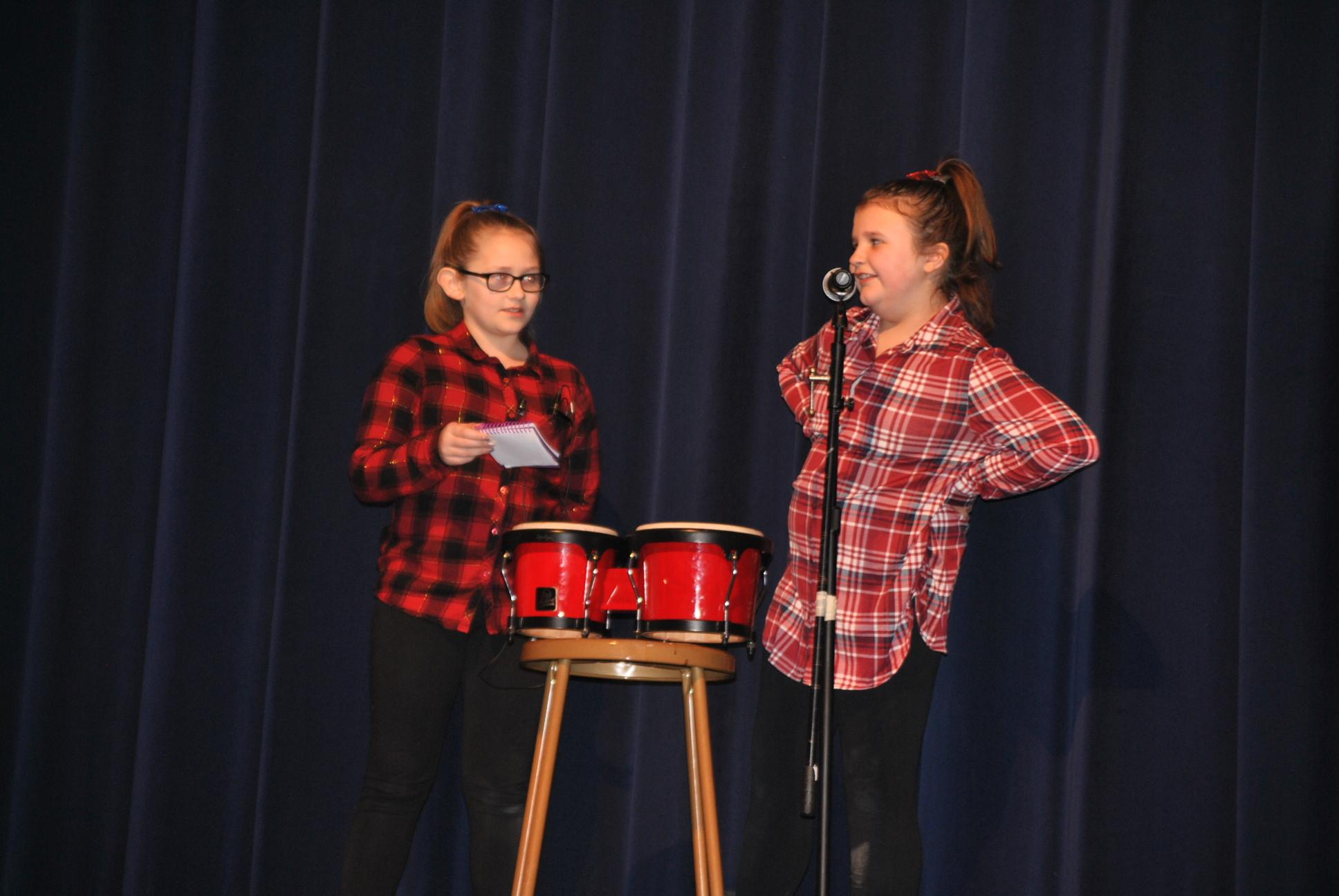 Students doing comedy