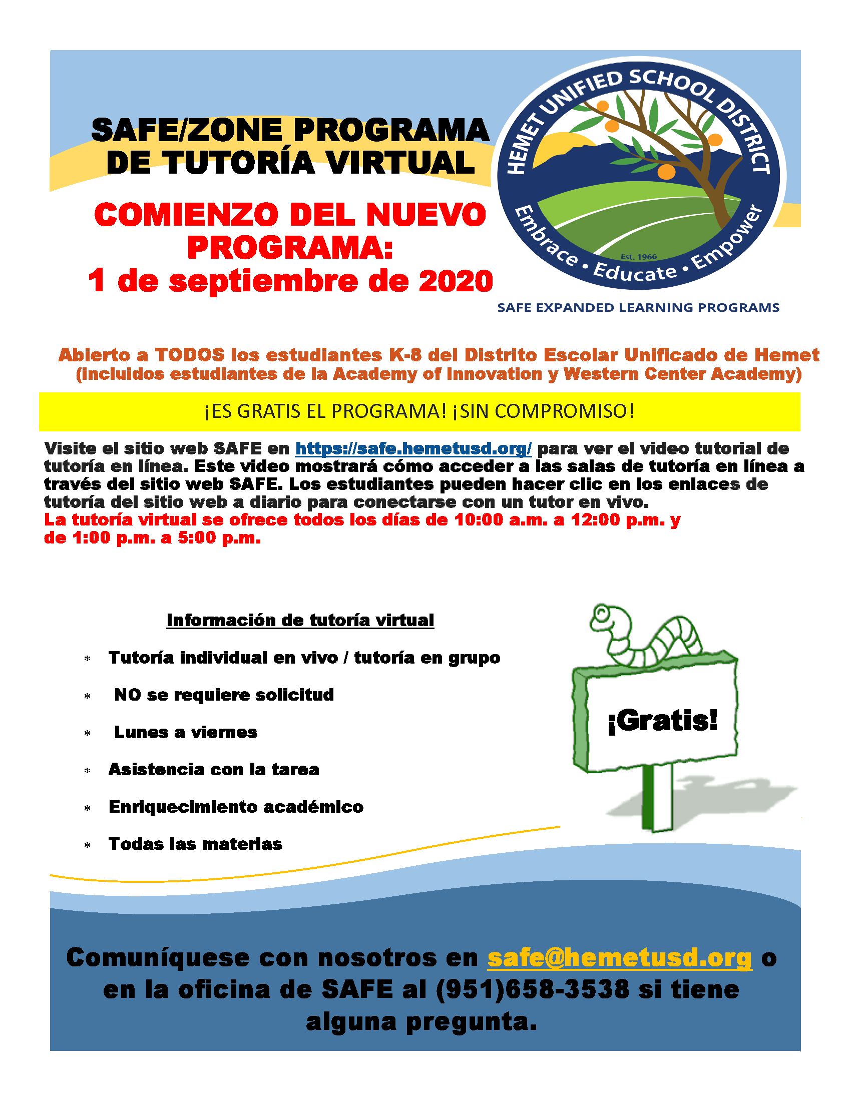 Tutoring Flyer - Spanish