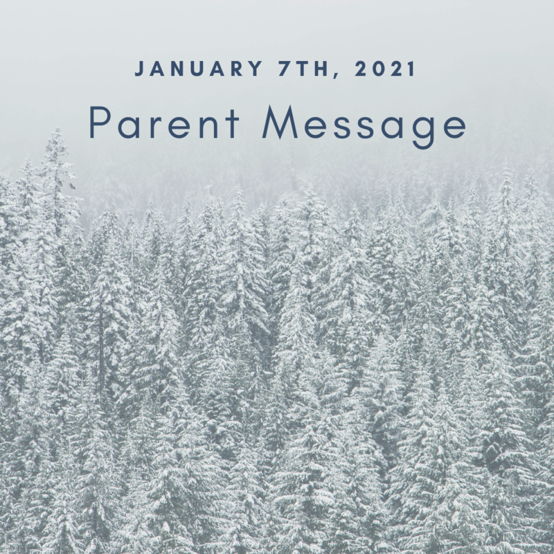 SCIS Parent Message: January 7th, 2021 Featured Photo