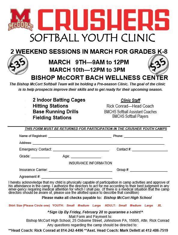 Softball Youth Clinic Thumbnail Image
