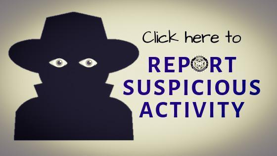 KBI Report Suspicious Activity