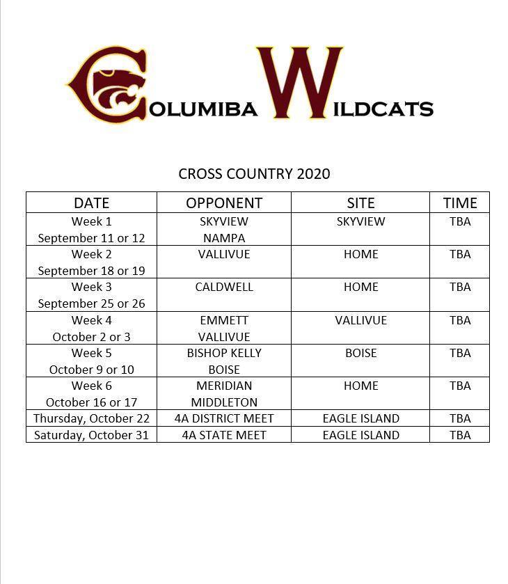 xc schedule