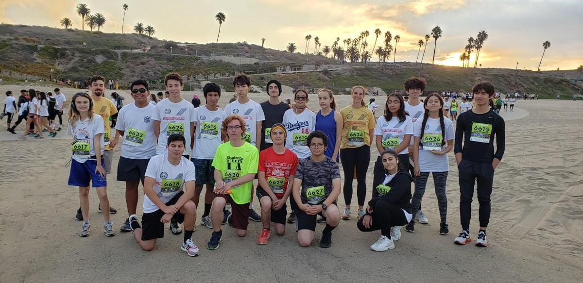 Group of students that ran 10K