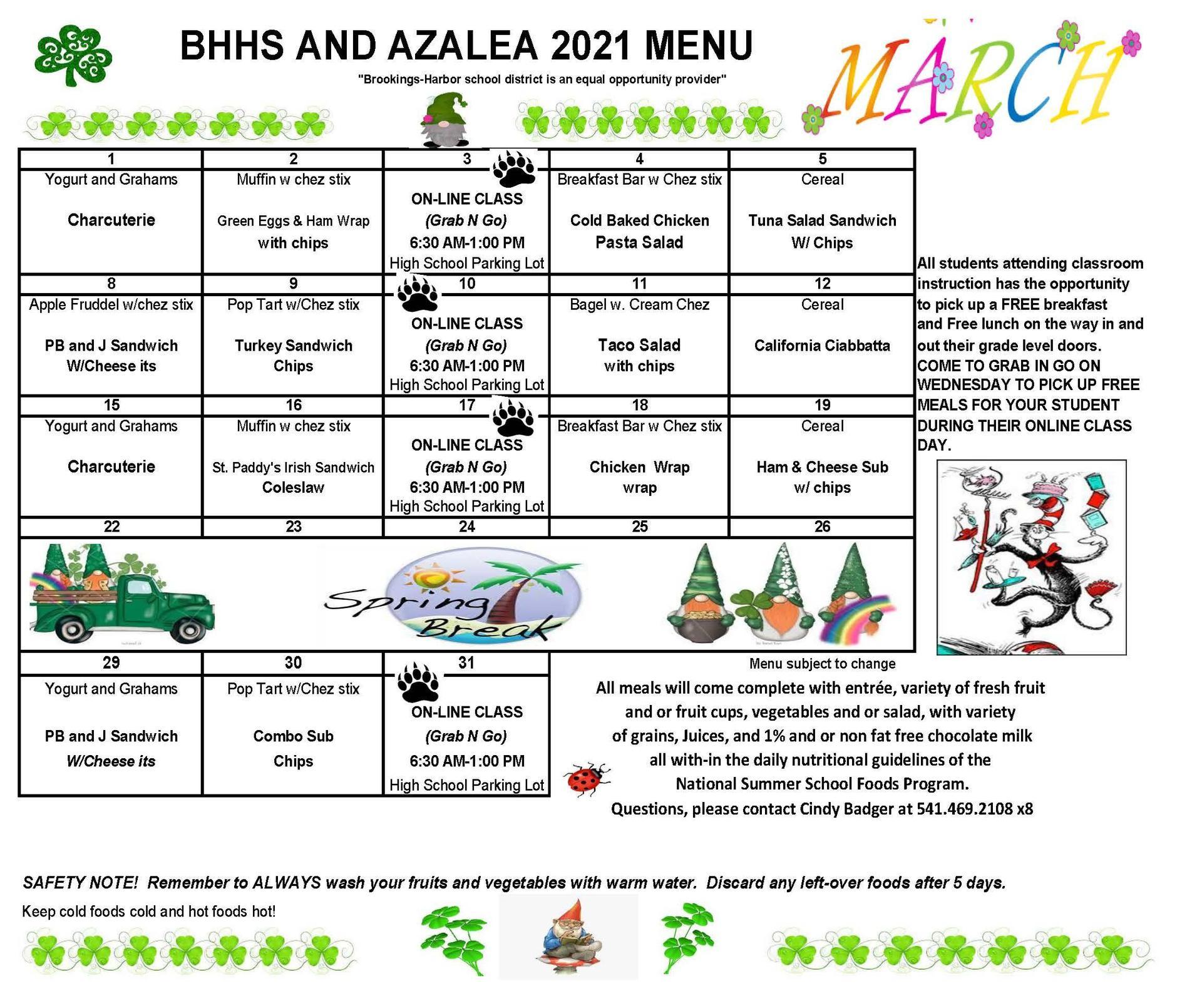 menu march