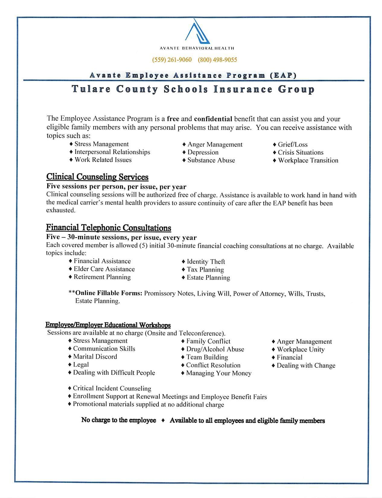 Employee Assistance Program Page 1