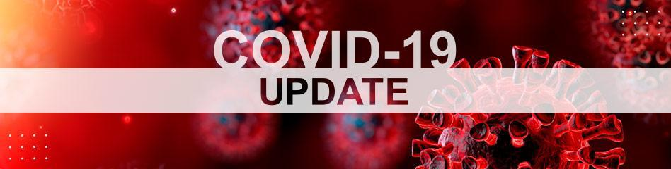 Image that reads COVID-19 Update