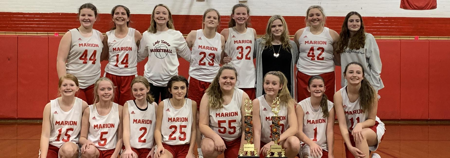 MMS Girl's Basketball team 2021-Highland's Conference Champions