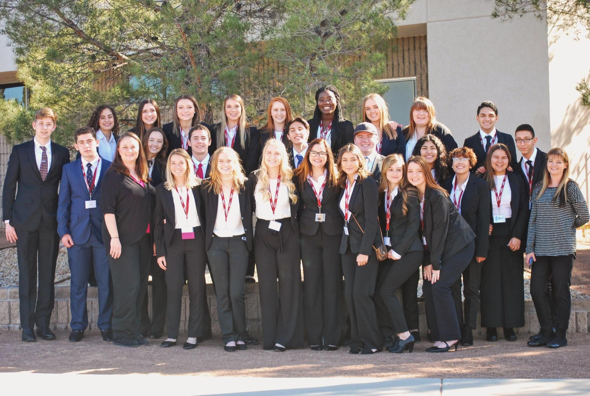 group of HOSA students