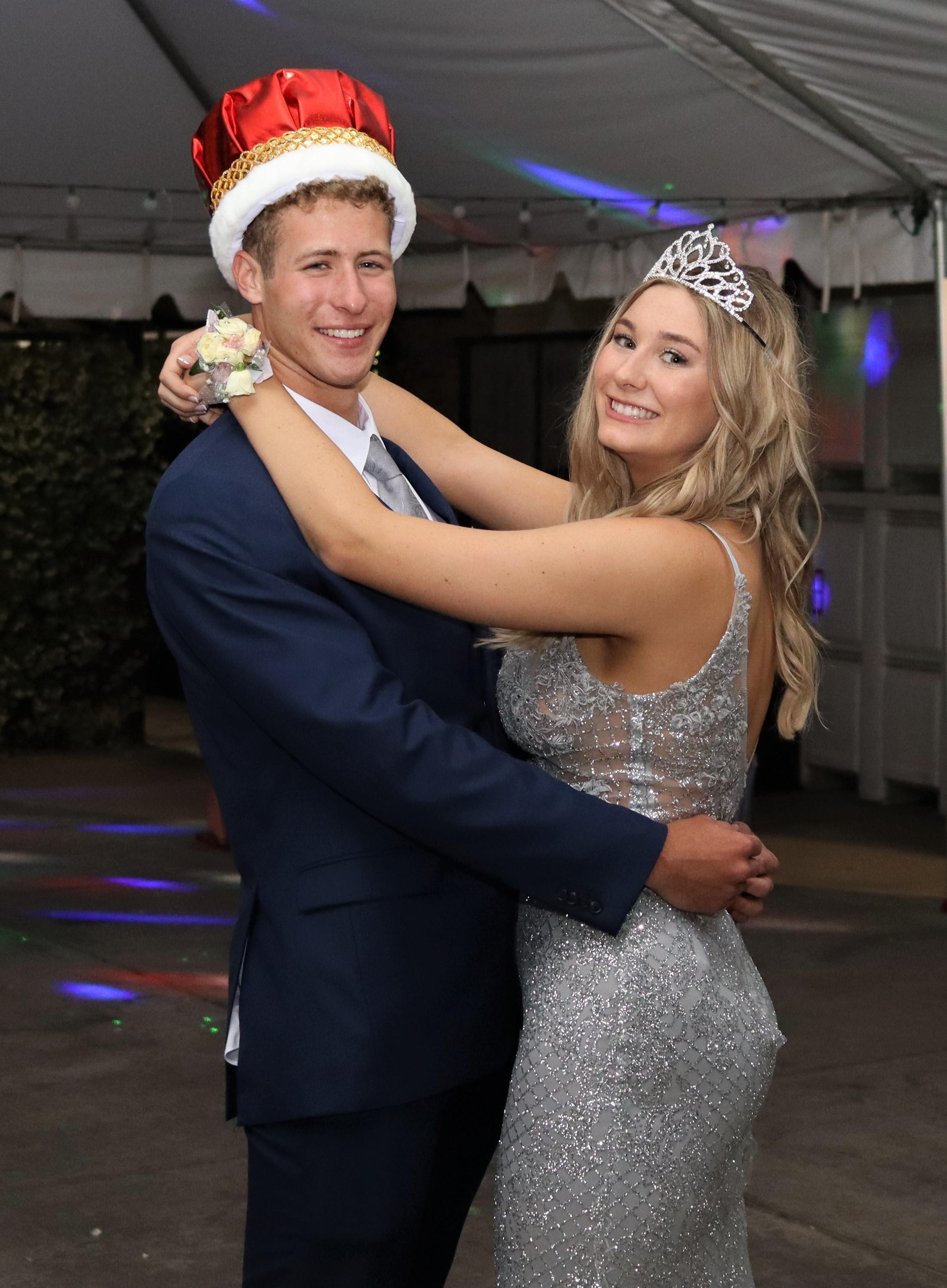 Prom King Joye Hughes and Prom King Jack Crawford