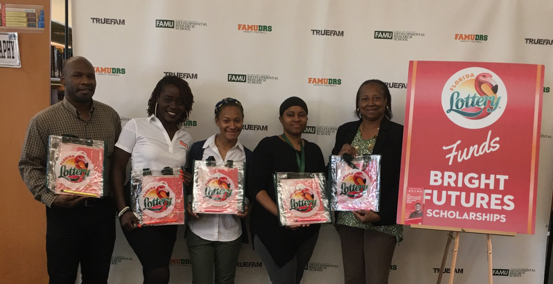 The Florida Lottery proudly sponsors reading program at FAMU DRS.