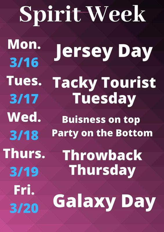 Spirit week March 2020
