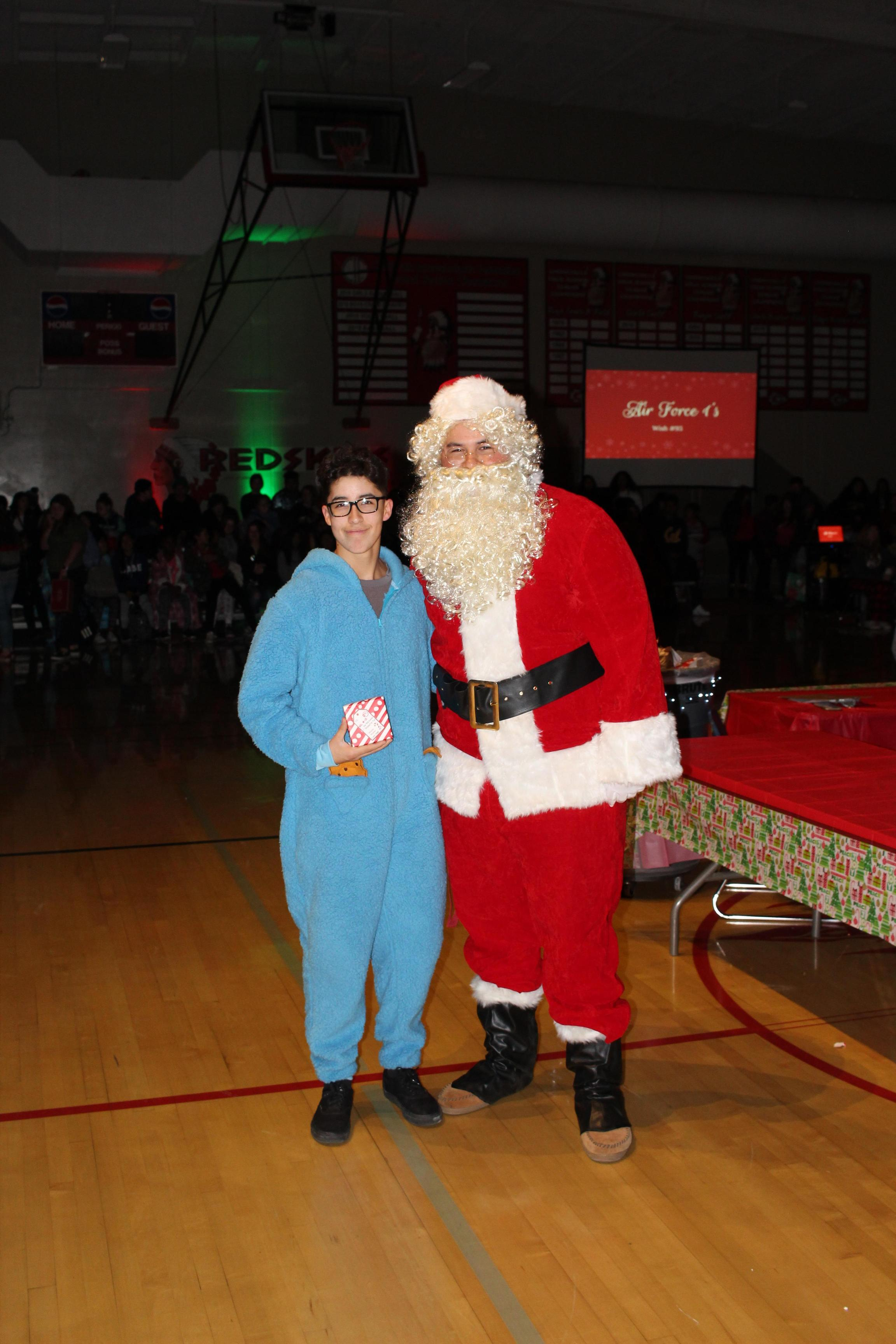 Ryan Diaz and Santa