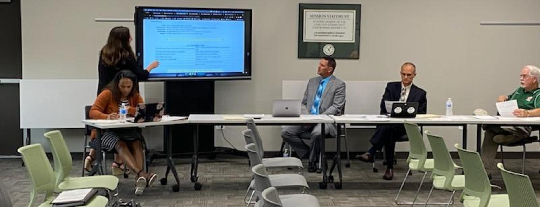 presentation to the board