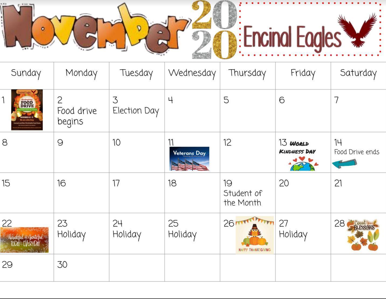 November school calendar