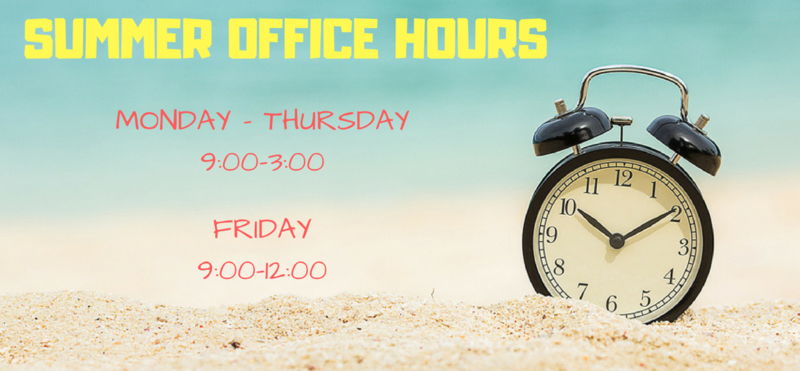 WPA Front Office Summer Hours Thumbnail Image