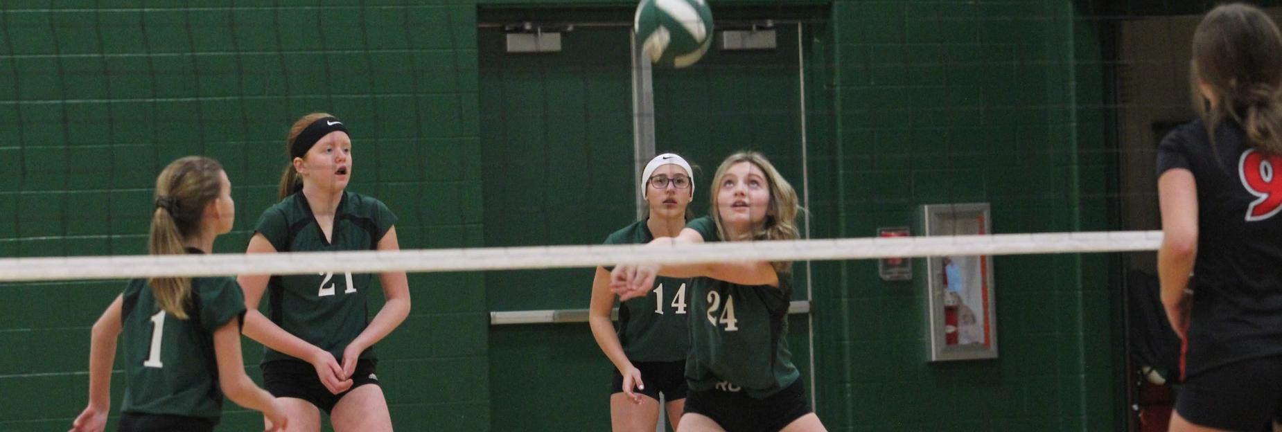 Volleyball bump, set, spike!