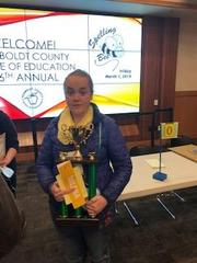 SBMS, Regional, and County pelling Bee champ Milana Chigris