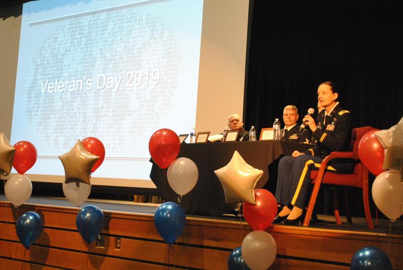 Presentation at KHS for Vet's Day