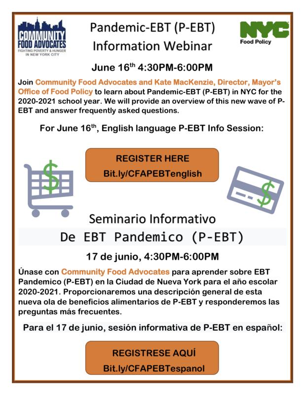 PEBT Information Webinar - Session Informativo de EBT Pandemico
