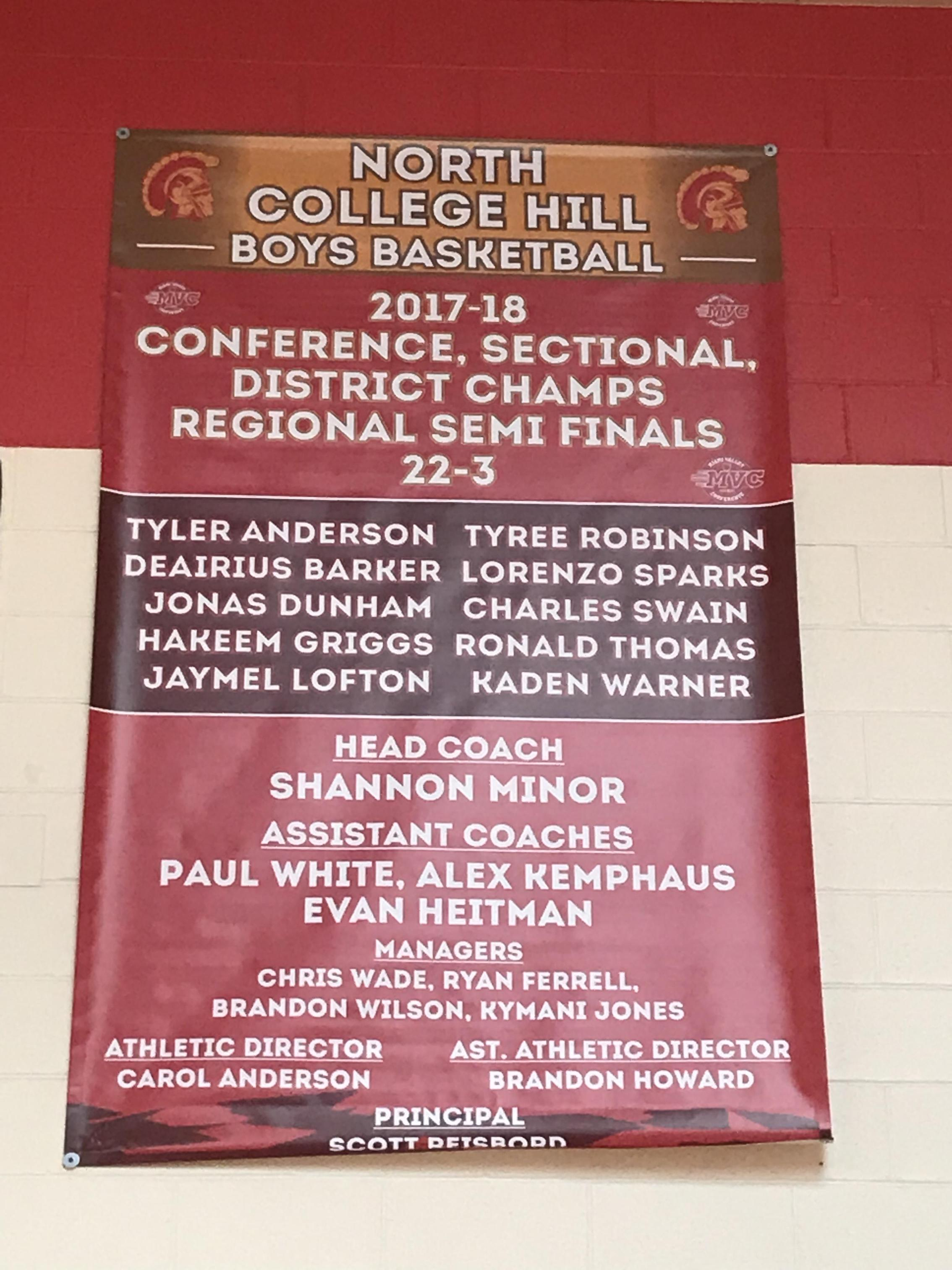 North College Hill new basketball banner
