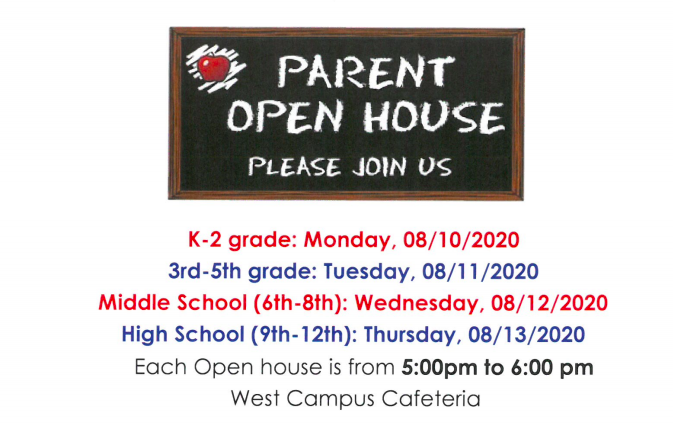 Open House 2020 Information Featured Photo