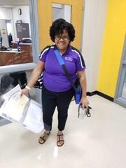 Mrs. Weston- Health Science teacher smiling