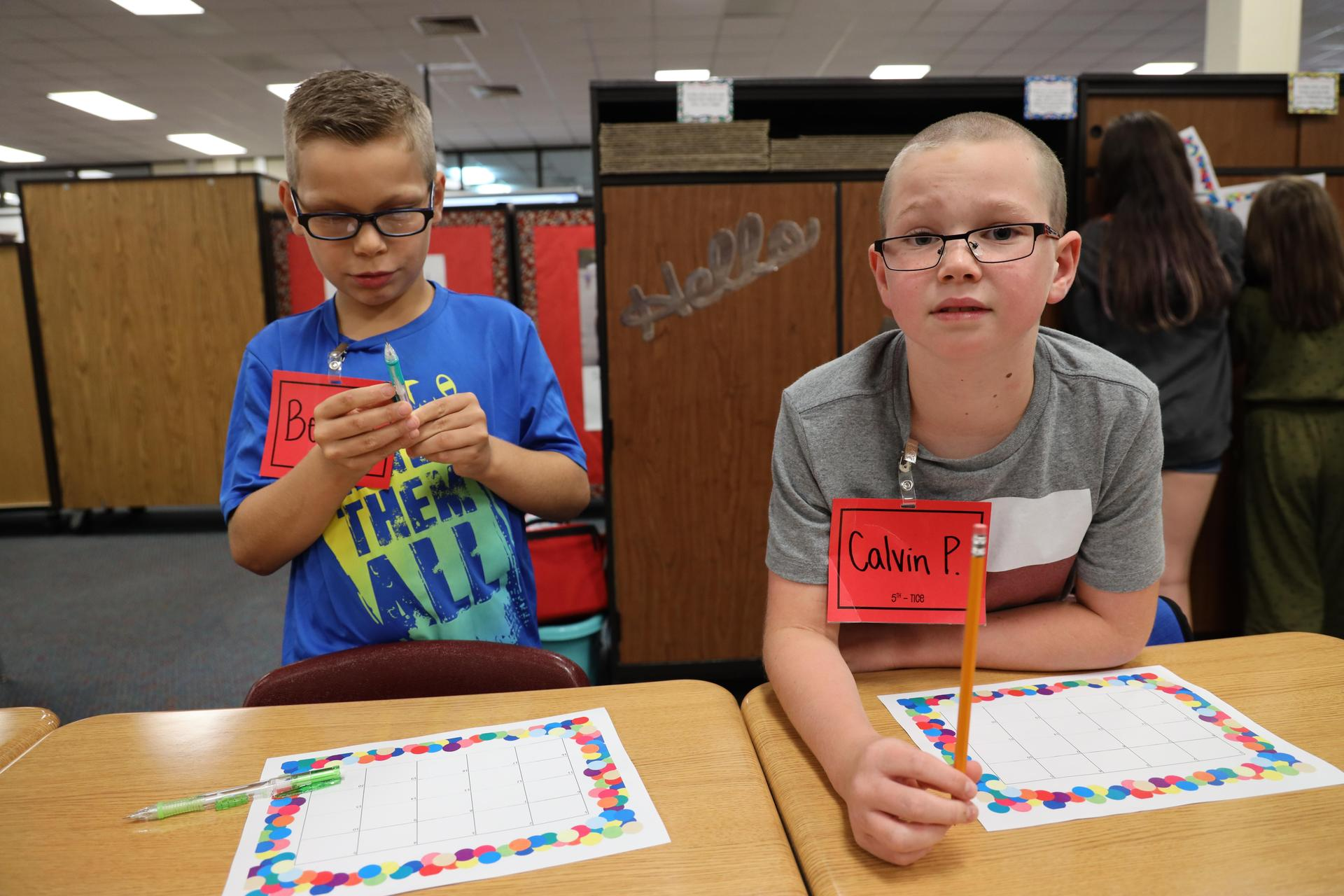 Deer Park Elementary students on the first day of school!