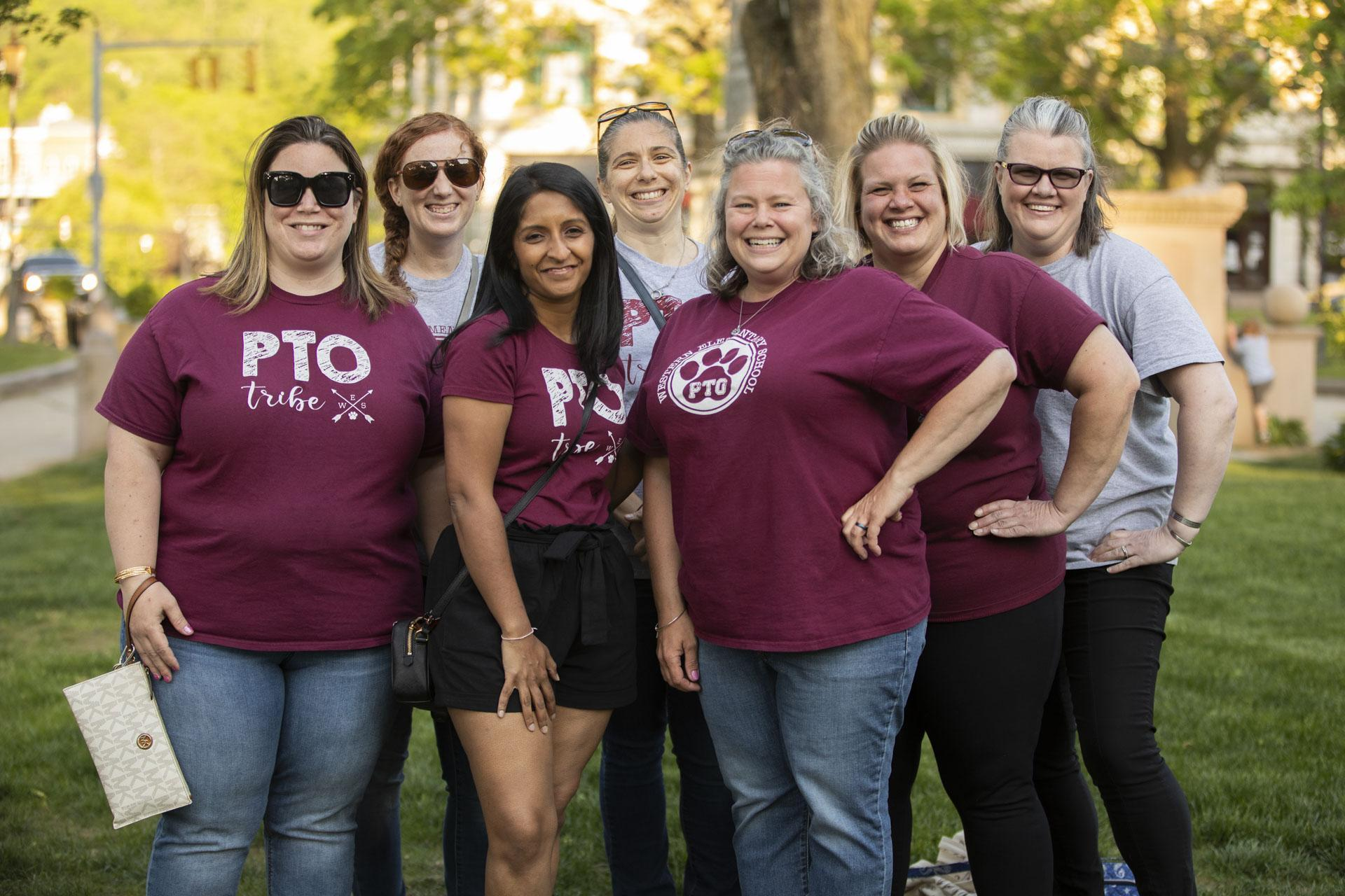 Western PTO members posing for a photo
