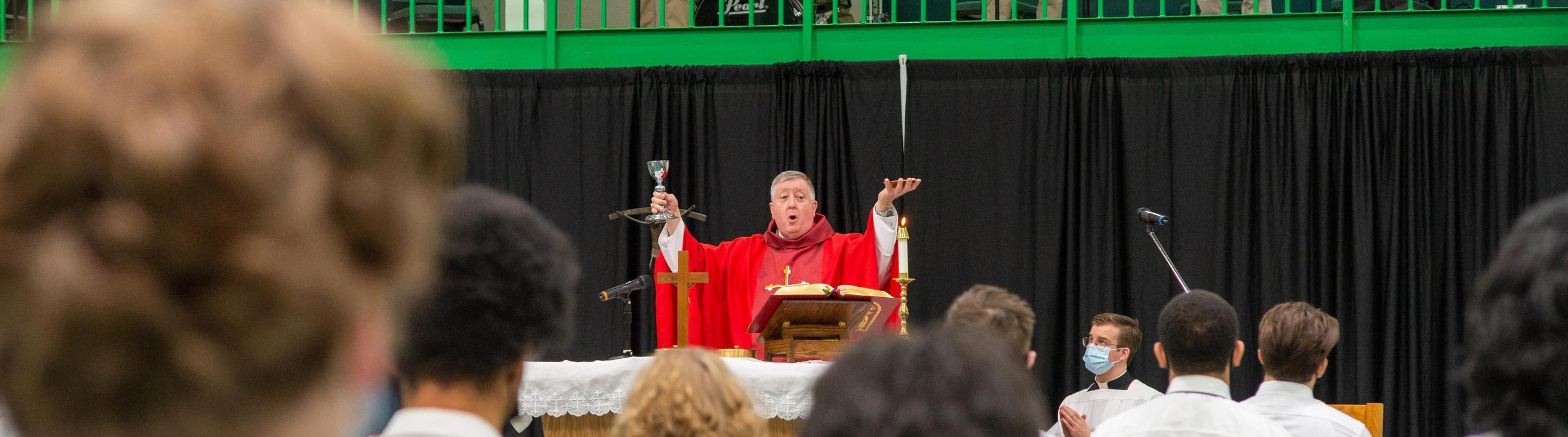 Archbishop Rozanski Celebrating Mass at St. Mary's