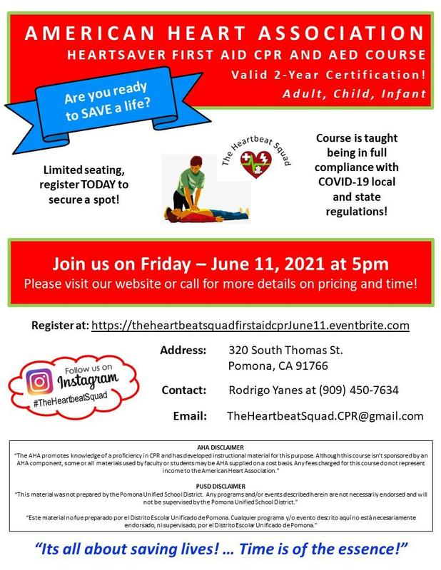 CPR and AED flyer