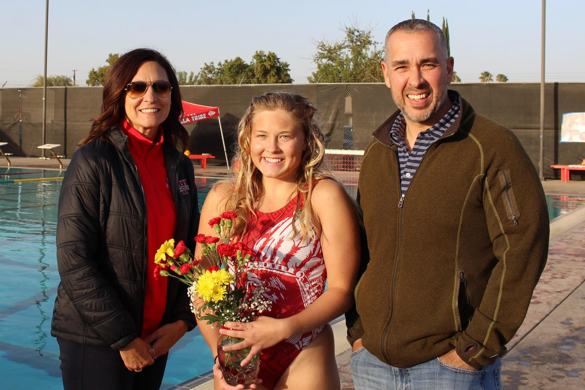 Klara Kyhlen and her host parents.