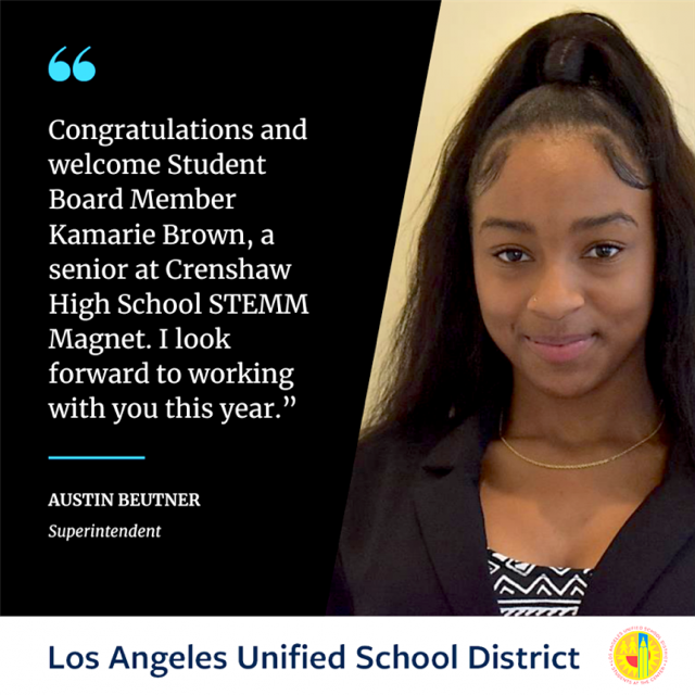 Congratulations to Kamarie Brown!!! Featured Photo