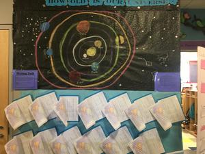 How Old is the Universe Bulletin Board Display of Work
