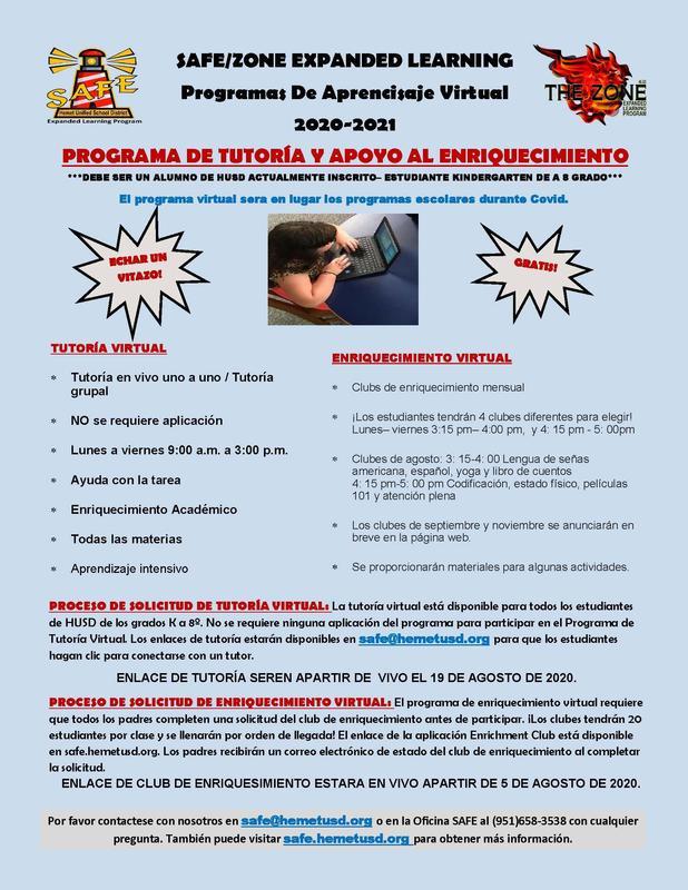 SAFE Program Flyer