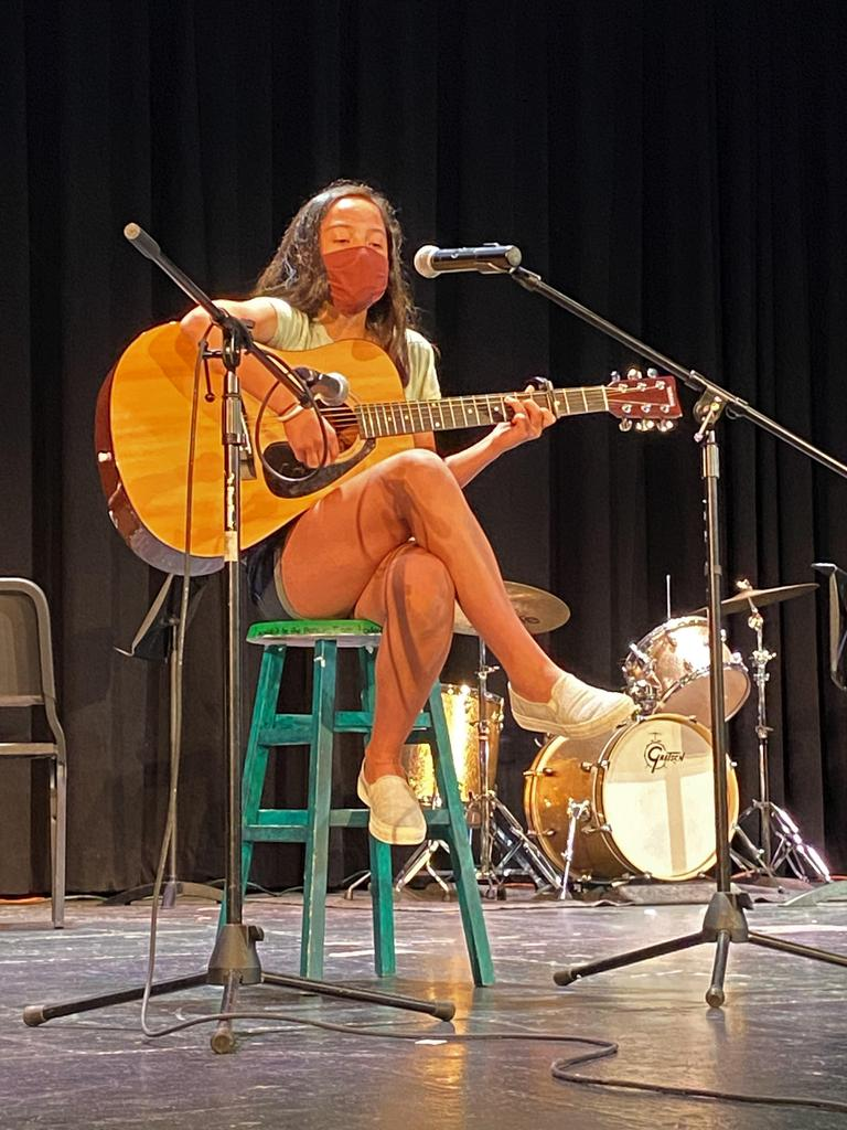 Photo of student performing during Fine Arts Day
