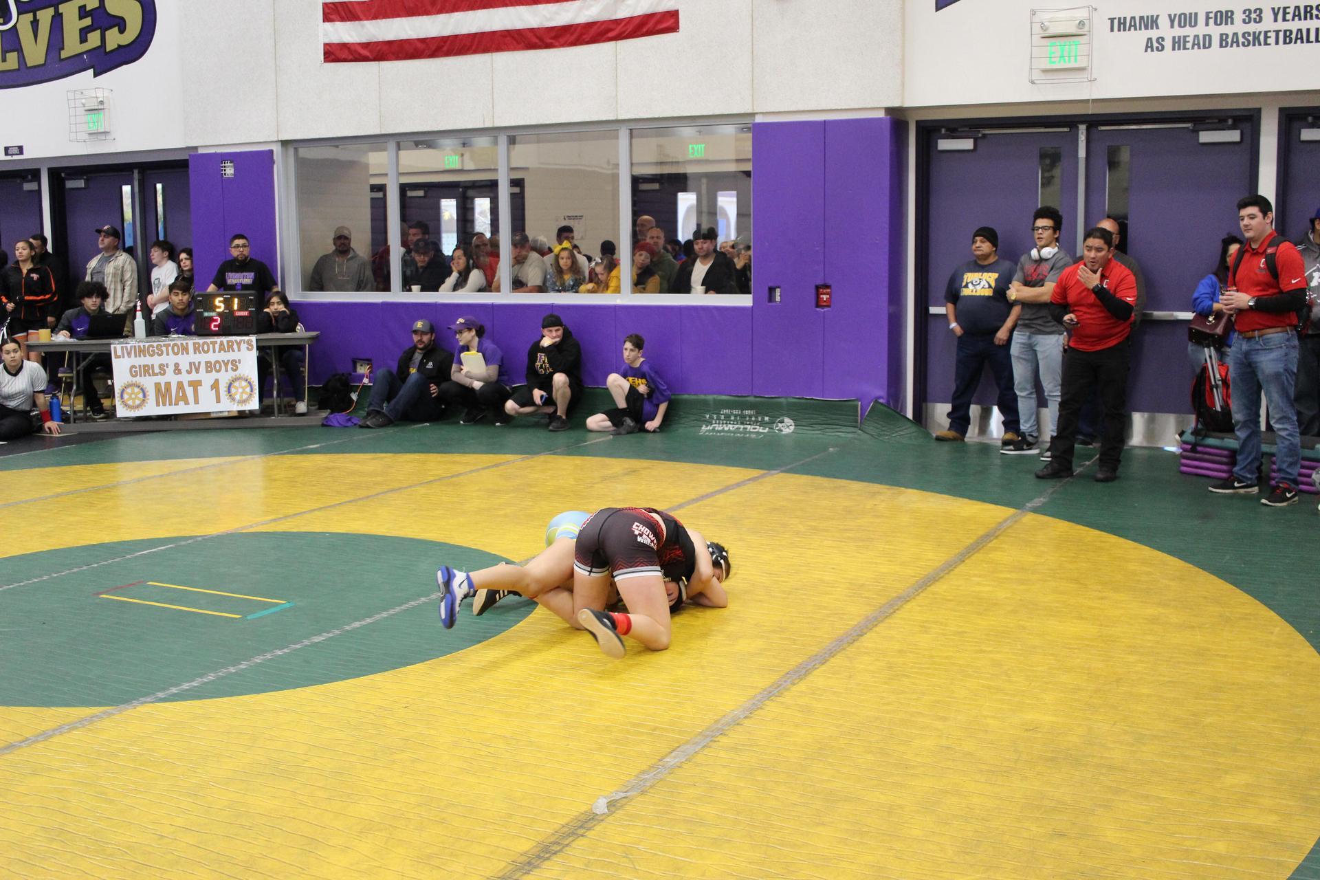 Abbigail Garner wrestling