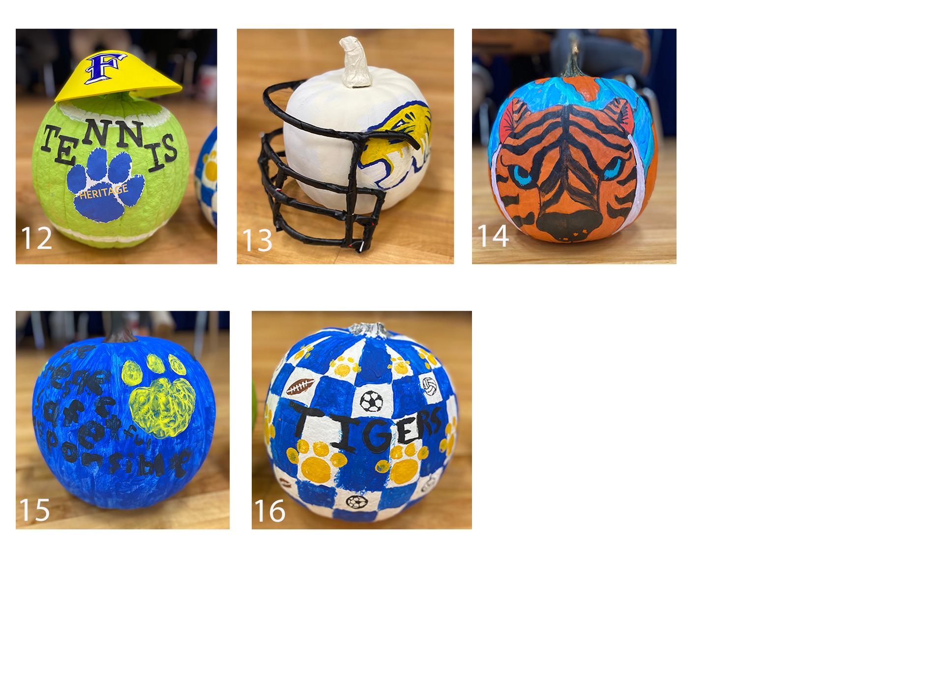 School Spirit Pumpkins